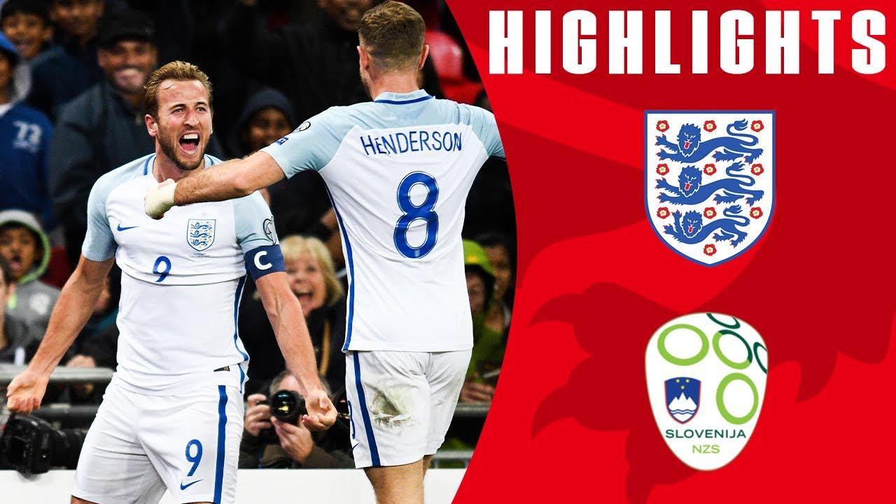Англия - Словения 1:0 видео