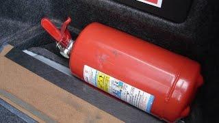Огнетушитель для автомобиля. Какой огнетушитель лучше?(Самое интересное, что не дай бог пожар может не хватить одного огнетушителя и усилия будут напрасны. У порош..., 2015-10-18T14:22:24.000Z)