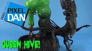 Aliens Queen Hive Kenner Playset Video Review (Retro Toy Rewind)