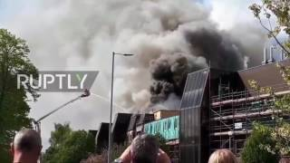 UK: Huge fire breaks out at Cancer Research hospital in Manchester