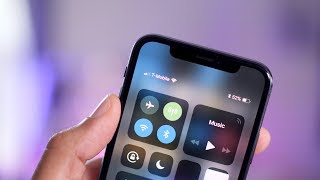 How to view iPhone X battery percentage