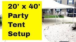 Eureka 20' x 40' Elite Party Tent Setup - How to set it up.... By Ace Tent Rental Davison Michigan