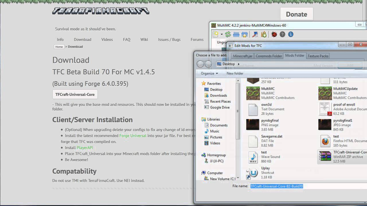 How to install TerraFirmaCraft Minecraft Mod