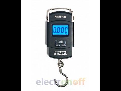Цифровые электронные весы кантер WH-A08 50 кг. Видео обзор весов от Electronoff.ua