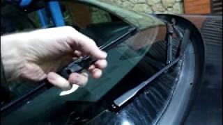 Замена дворников лобового стекла на Nissan Qashqai 2,0 4WD Ниссан Кашкай 2008 года
