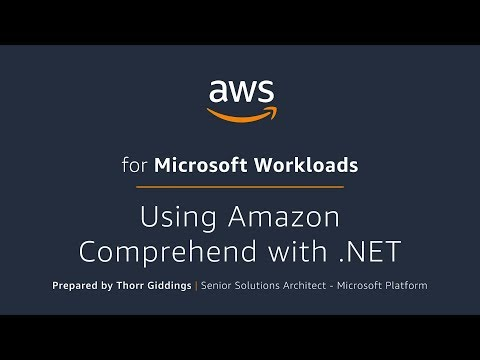 Using Amazon Comprehend with .NET