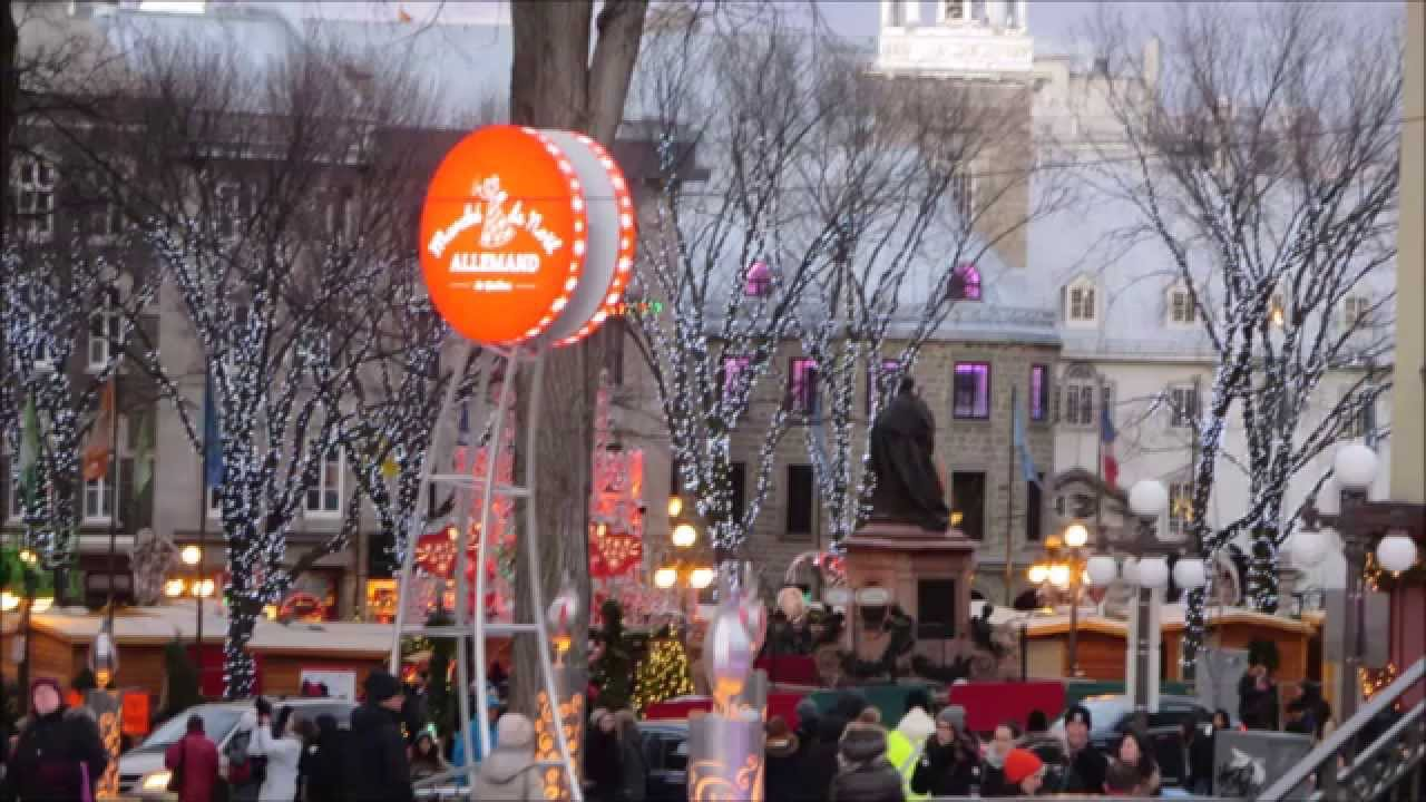 german christmas market qubec city can nov 2015