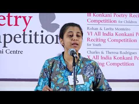 Konkani Poems | Reciting Competition for Youth 2016 - Part 2/4 | Kavita Trust