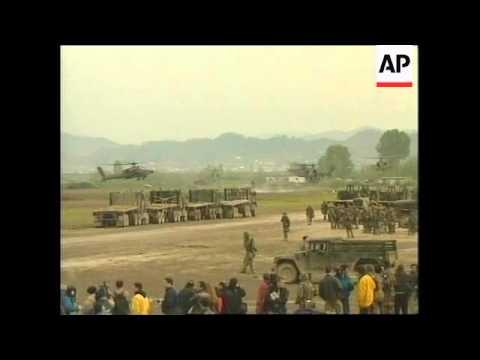ALBANIA: NATO APACHE ATTACK HELICOPTERS AT TIRANA