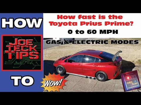 How FAST is the Prius Prime 0 to 60 MPH | JoeteckTips