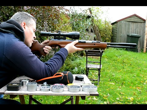 Shooting the Walther LGU .22 Underlever Air Rifle