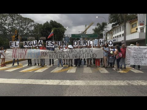 AFP news agency: Venezuelans protest water shortage on Earth Day