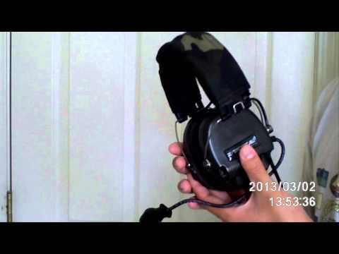Airsoft: Matrix/Element Communications Headset Type E (Replica MSA Sordin)