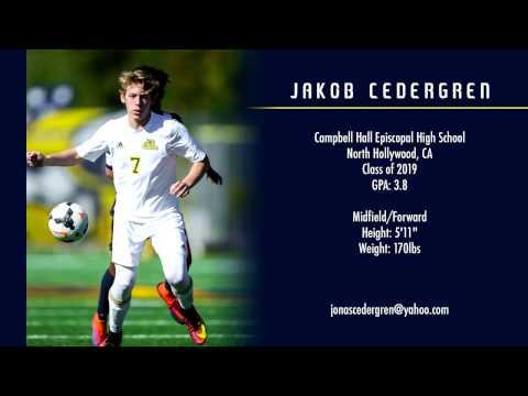 Jakob Cedergren - College Soccer Recruiting Video - Class of 2019