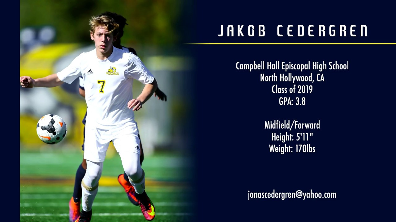 Image result for Jakob Cedergren - College Soccer Recruiting Video - Class of 2019