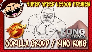 Lesson Preview: How to Draw GORILLA GRODD (The Flash) or KING KONG (Kong: Skull Island) | Time Lapse