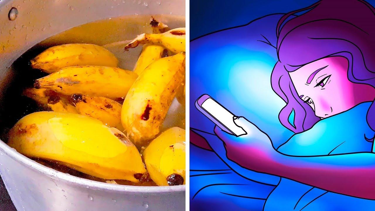 Сварите Банан Перед Сном и Будете Спать, Как Младенец