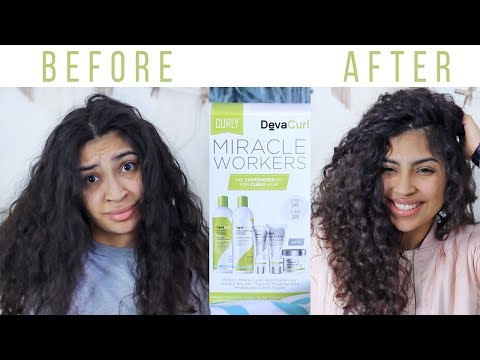 DevaCurl Curly Hair Miracle Workers Kit Review + GIVEAWAY