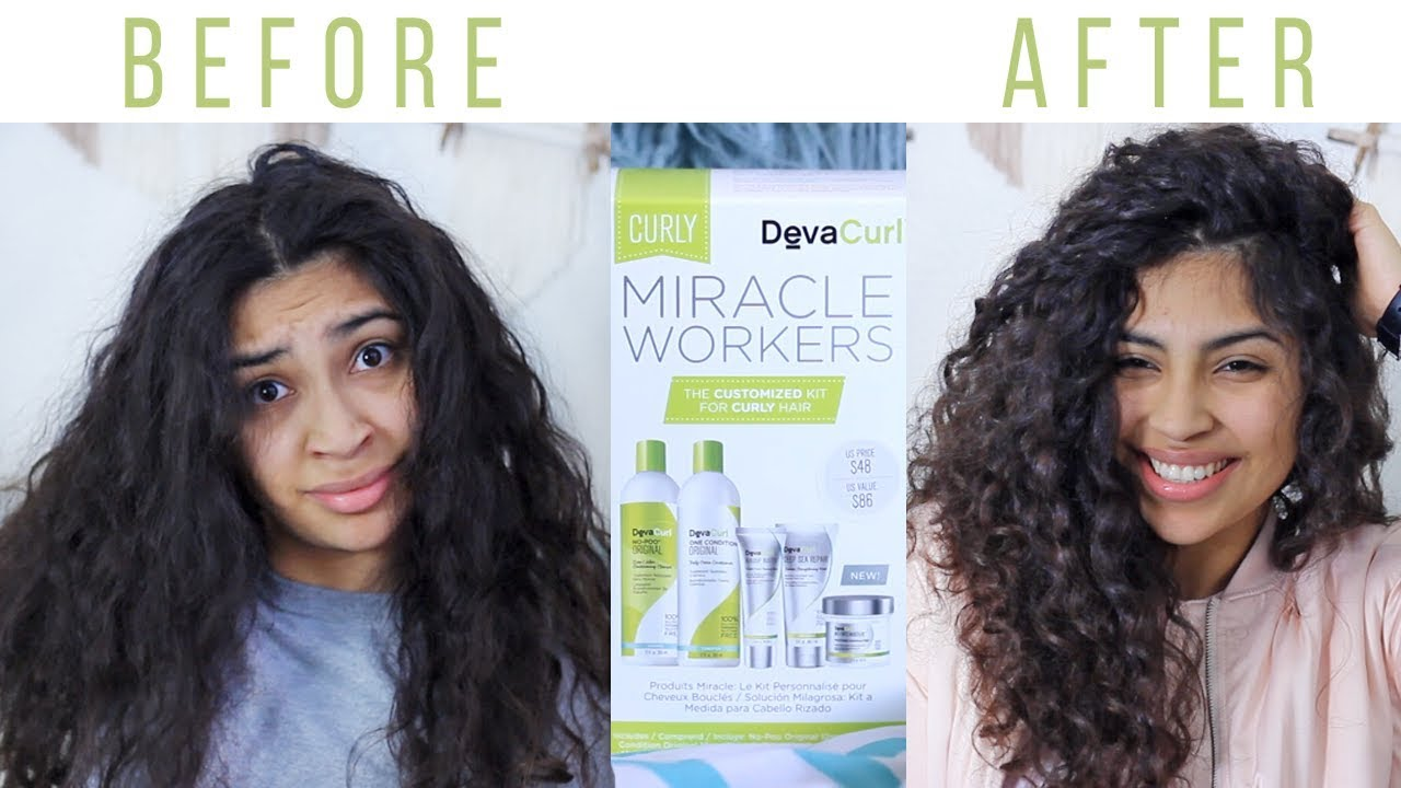 deva curl haircut reviews devacurl curly hair miracle workers kit review 4231