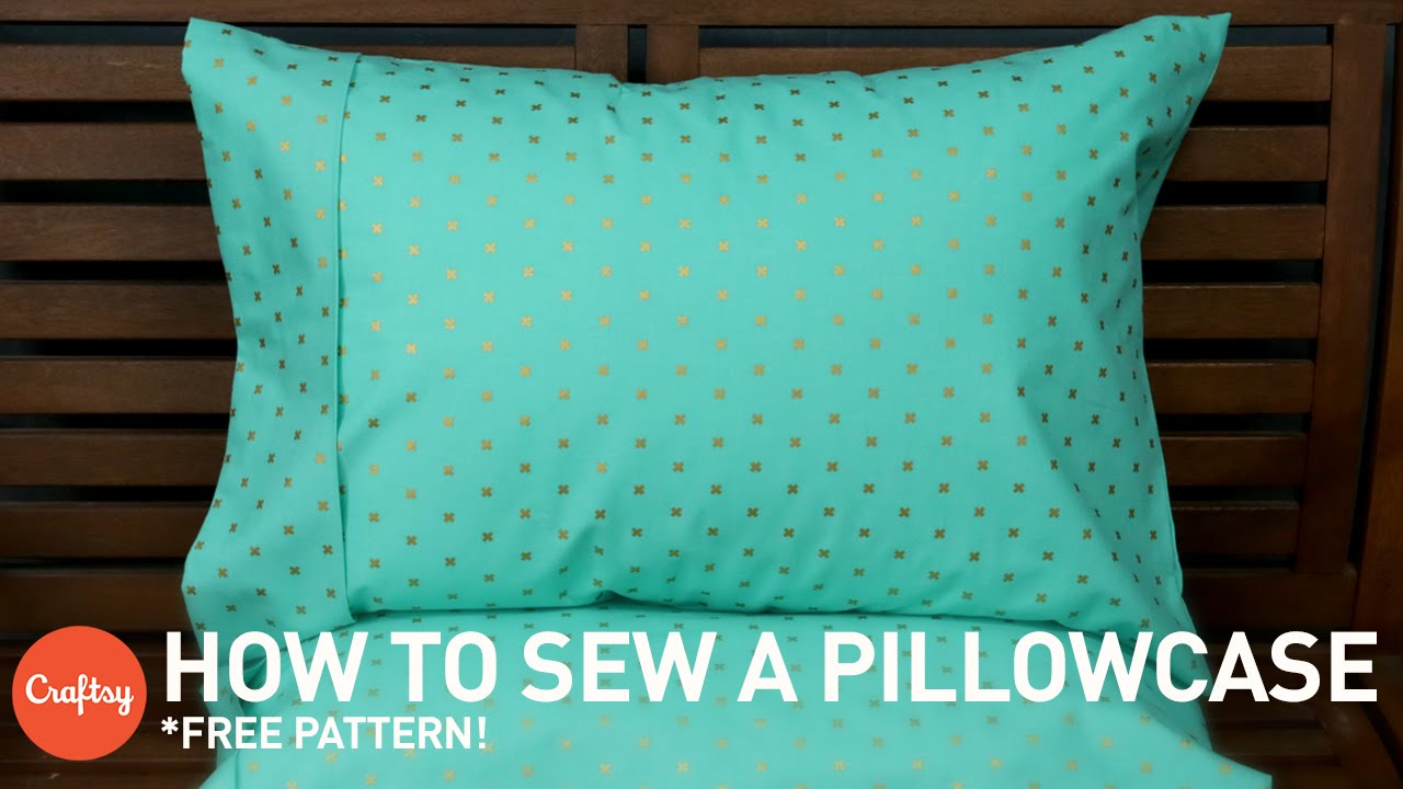 How to sew a pillowcase with free pattern sewing tutorial with how to sew a pillowcase with free pattern sewing tutorial with angela wolf youtube jeuxipadfo Image collections