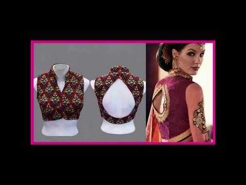 44-types-of-saree-blouses-front-&-back-neck-design