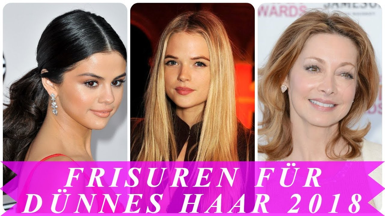 Beste Frisuren Für Feines Haar 2018 Youtube