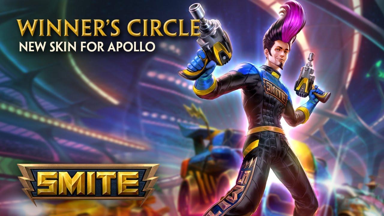 smite new skin for apollo winners circle youtube