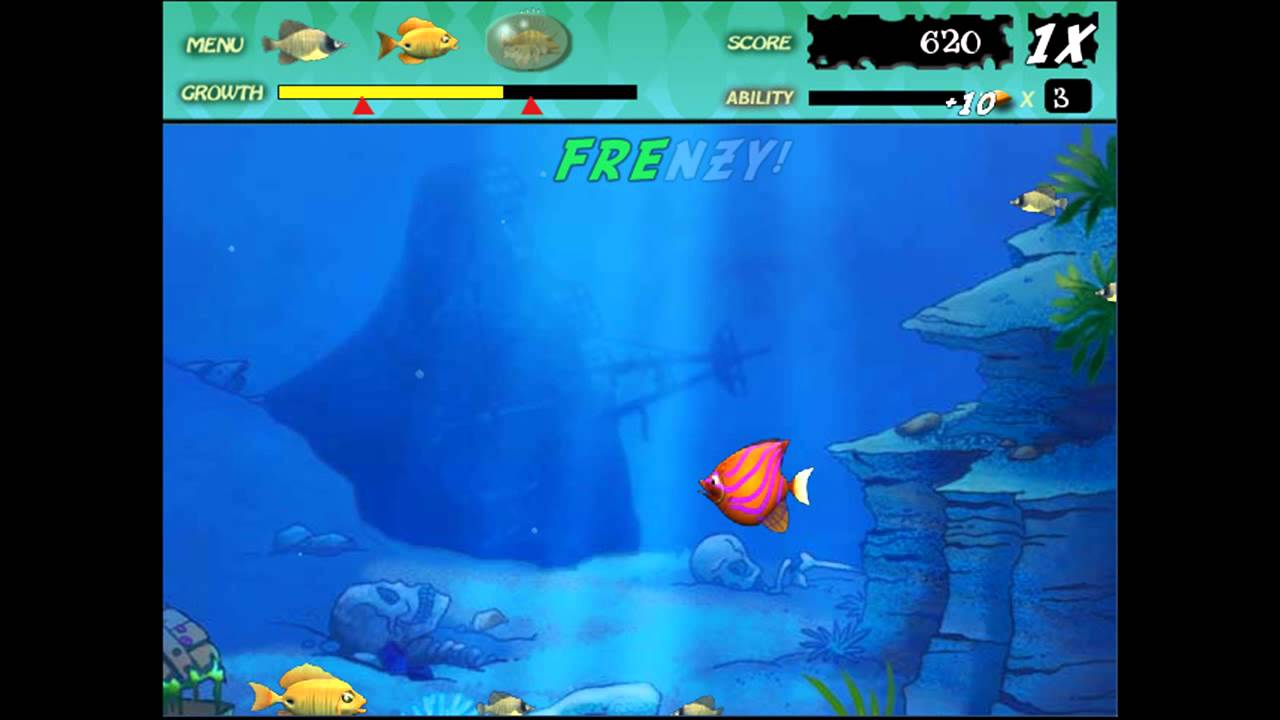 Play fish games free gamesworld for Free online fishing games