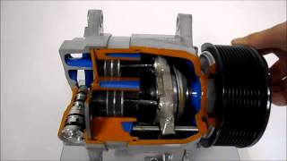 Axial Alternative Compressor Cut-Away, with Variable Displacement - NADA Scientific