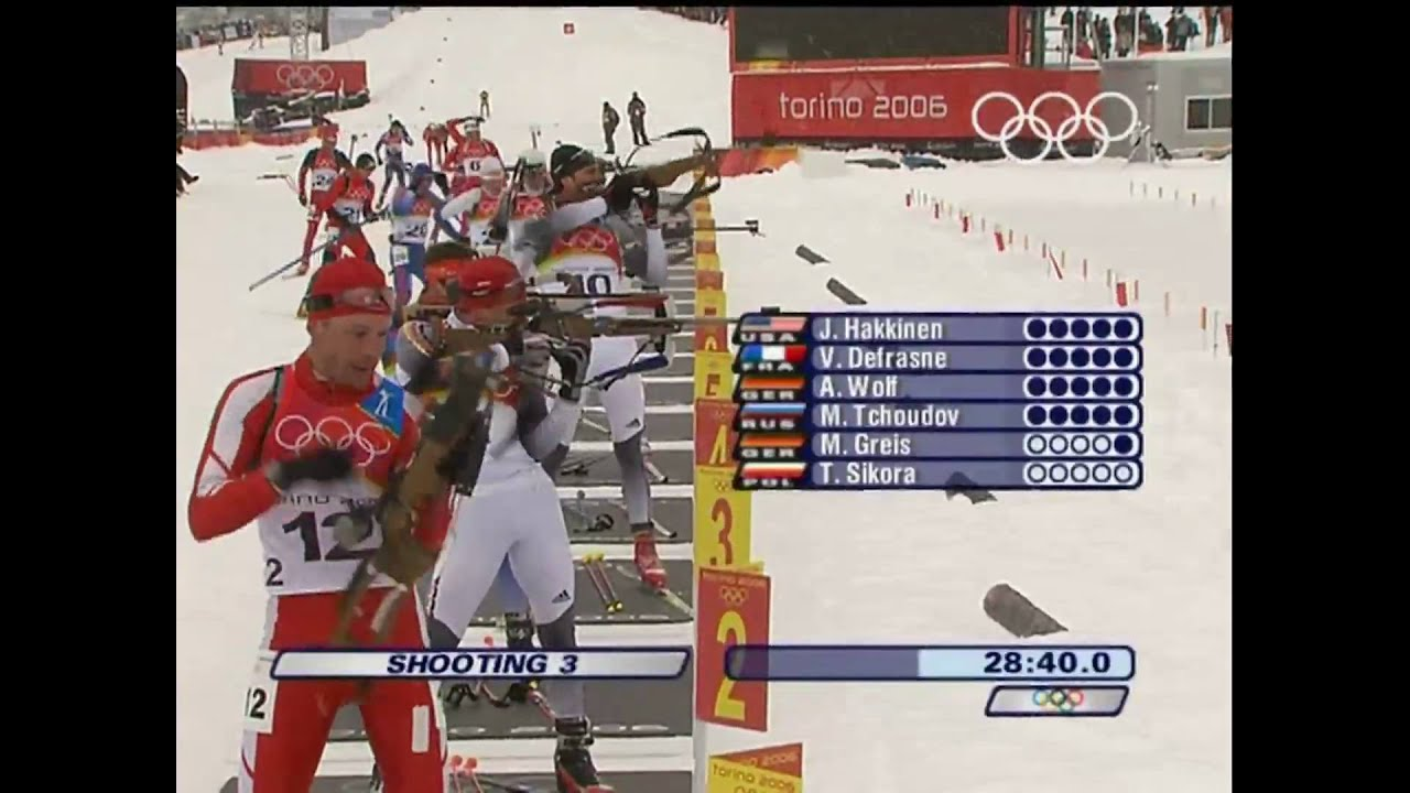 Biathlon - Men's 15Km Mass Start - Turin 2006 Winter Olympic Games