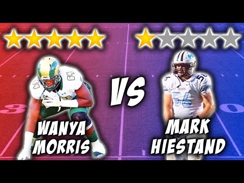 5 Star Recruit vs 1 Star Recruit *OFFENSIVE TACKLE EDITION*