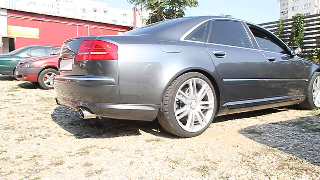 audi s8 v10 race exhaust by topgear bucharest youtube. Black Bedroom Furniture Sets. Home Design Ideas