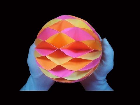 Christmas Crafts : How to make Honeycomb Ball ( DIY Crafts)