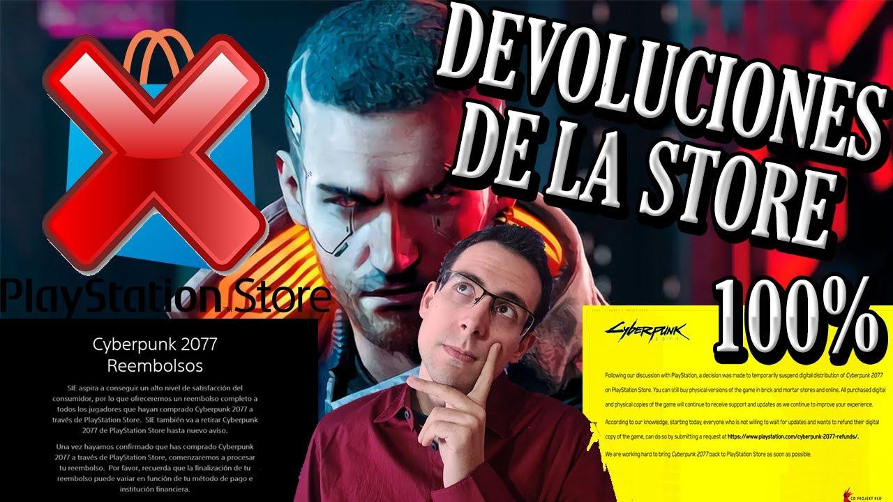 ¡¡SONY RETIRA CYBERPUNK 2077 de PLAYSTATION STORE !! ¡¡DEVUELVE EL 100% de REEMBOLSOS en LA STORE!!