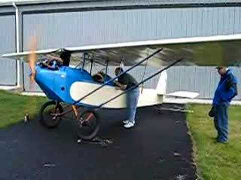 Ford Model A Powered Pietenpol air camper - Startup