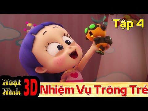 Phim Hoạt Hình Hay Nhất 2018 - Binh Đoàn Người Máy T-Buster- NHIỆM VỤ TRÔNG TRẺ - Phim Hoạt Hình 3D