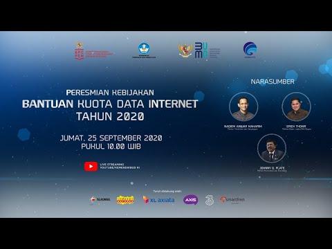 [LIVE] Peresmian Kebijakan Bantuan Kuota Data Internet Tahun 2020