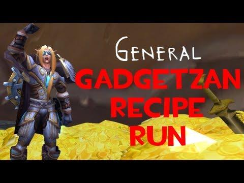 Gadgetzan Recipe Run - WoW Gold Making With Faid
