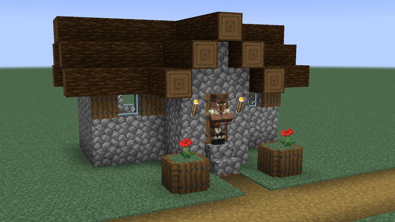 How to build a Minecraft Village Fletcher House (8.84 taiga)