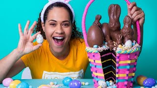 Easter Basket made of CAKE! | Chocolate Cake, Buttercream Filling, Fondant | How To Cake It