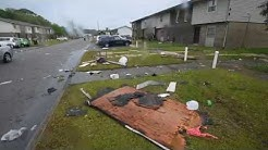 Damage to Fort Walton Housing Authority after apparent tornado Sunday