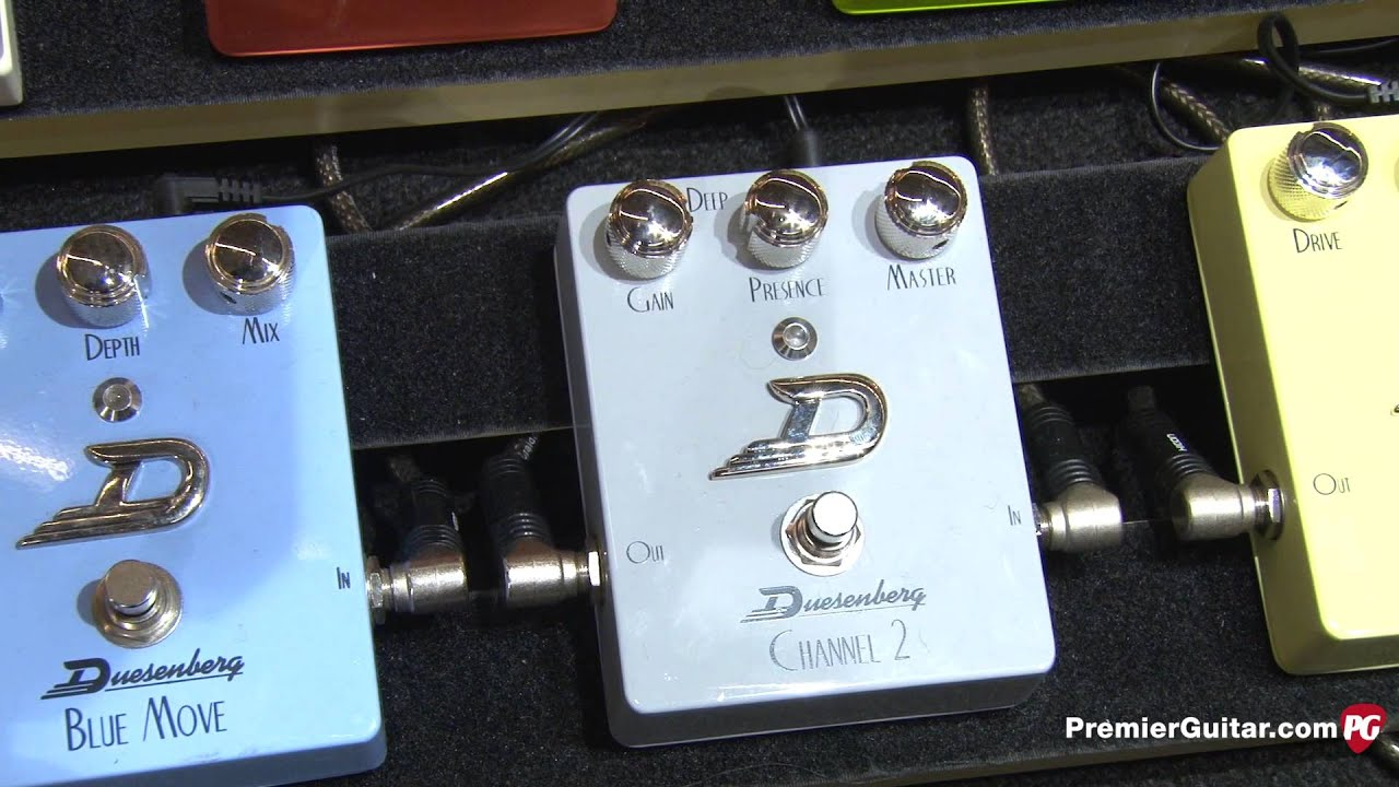 Musikmesse '13 - Duesenberg Guitars Mike Campbell II & Starplayer TV Hollow Guitars, & Pedal Demos