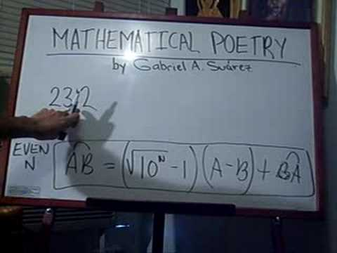 MATHEMATICAL POETRY / DISSECTED NUMBER LAW