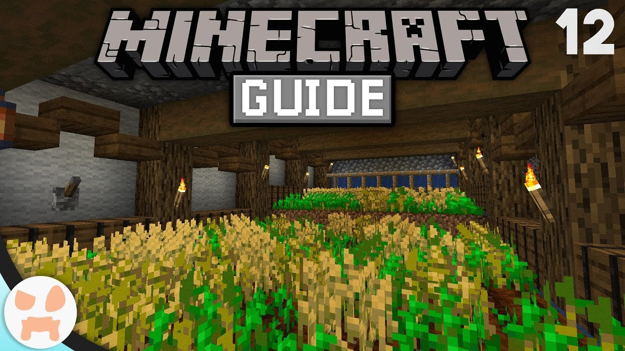 Semi Auto Wheat Farm The Minecraft Guide Minecraft 1 14 1 Lets Play Episode 12 Youtube