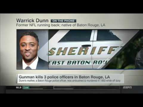 New Former NFL RB Warrick Dunn on Shootings in Baton Rouge, LA