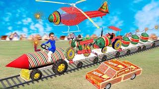 पटाका वाहन ट्रेन Pataka Motorbike Train Tractor Comedy Video हिंदी कहानियां Hindi Kahaniya Comedy