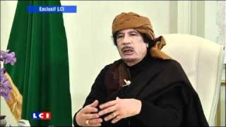 Vidéo Kadhafi  l interview exclusive de LCIWAT Actualité   LCIWAT   wat tv