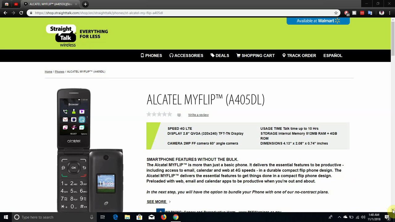 Alcatel MYFLIP™ (A405DL)   Straight Talk