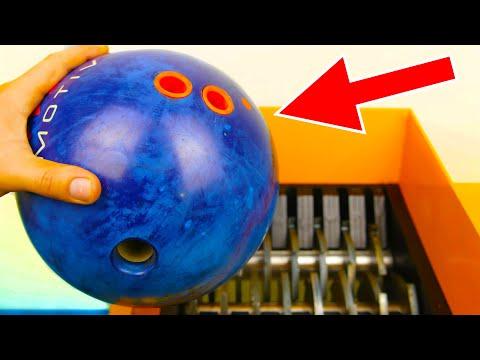 BOWLING BALL SHREDDING! AWESOME VIDEO!