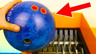 BOWLING BALL SHREDDING! AWESOME VIDEO!